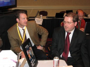 AFP Director Tom Jenney (left) and Grover Norquist (right) discuss free market economics.