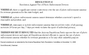 RESOLUTION Photo Enforcement