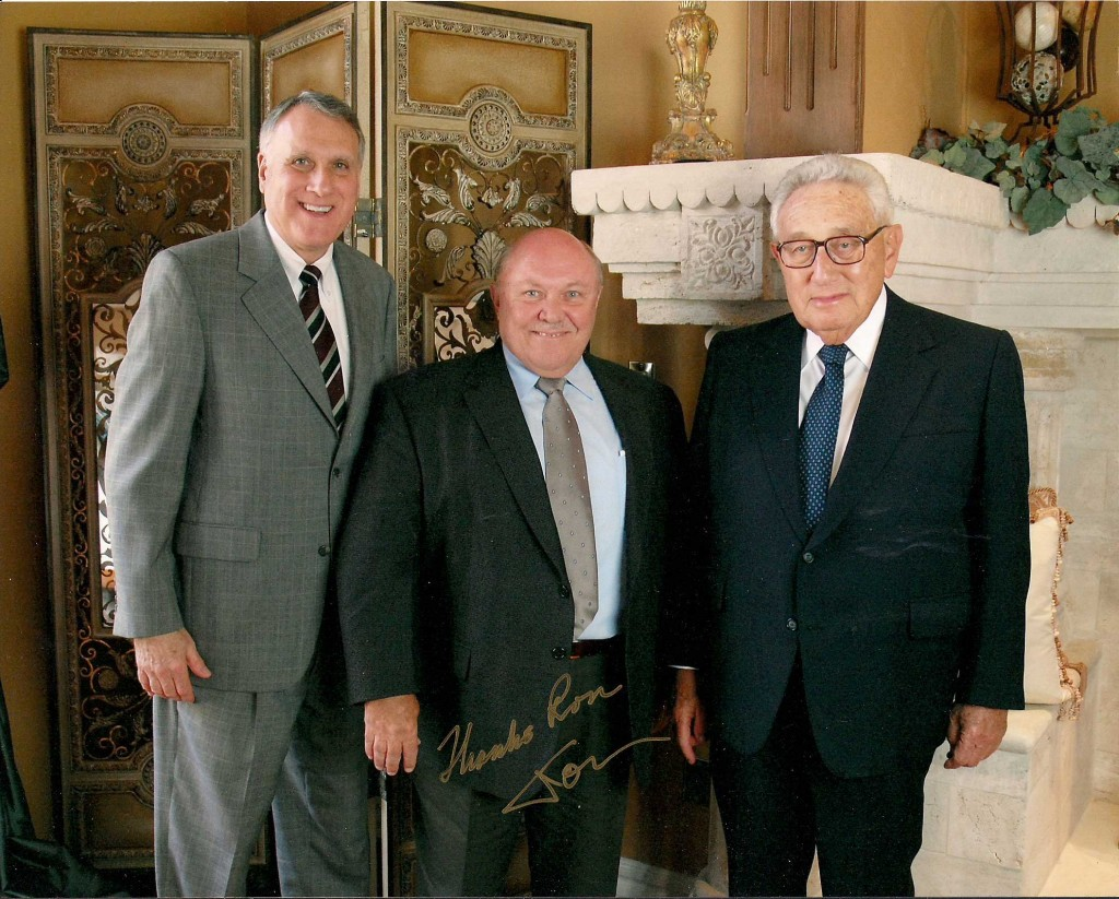 Ron Carmichael with Senator Kyl and Henry Kissinger