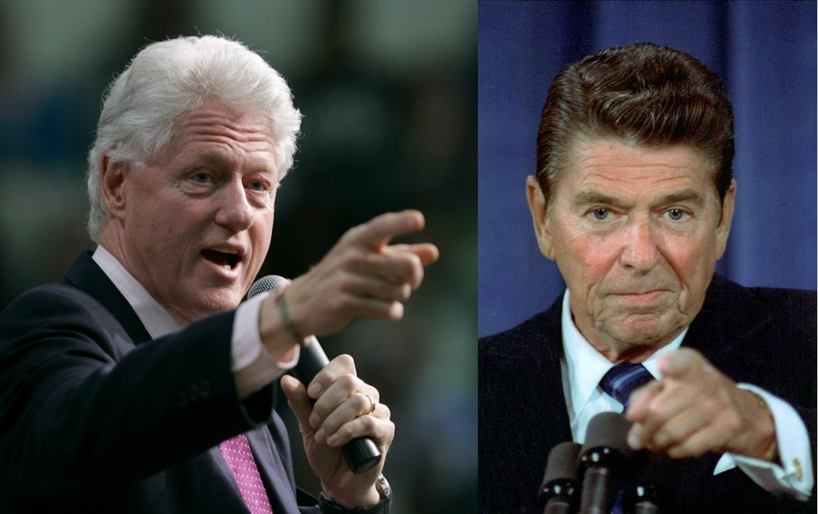ronald reagan vs bill clinton essay Yet even a cursory examination of the record of president clinton as compared with that of president reagan, the other recent two-termer, leads to the comforting conclusion that not all.