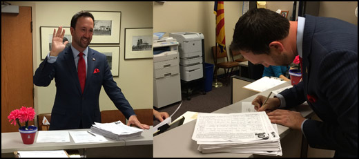 Kwasman files signatures for Congress