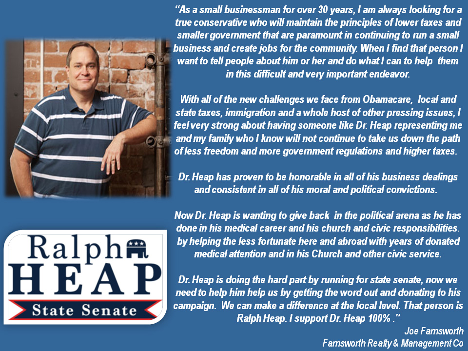 Farnsworth Endorses Heap
