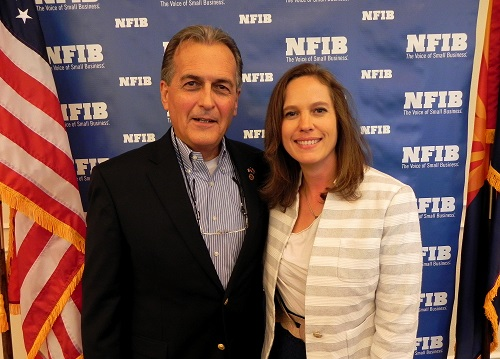 NFIB/Arizona Leadership Council member Jeff Fleetham and LD28 House hopeful Shawnna Shawnna Bolick at the small business group's Small Business Forum this week.