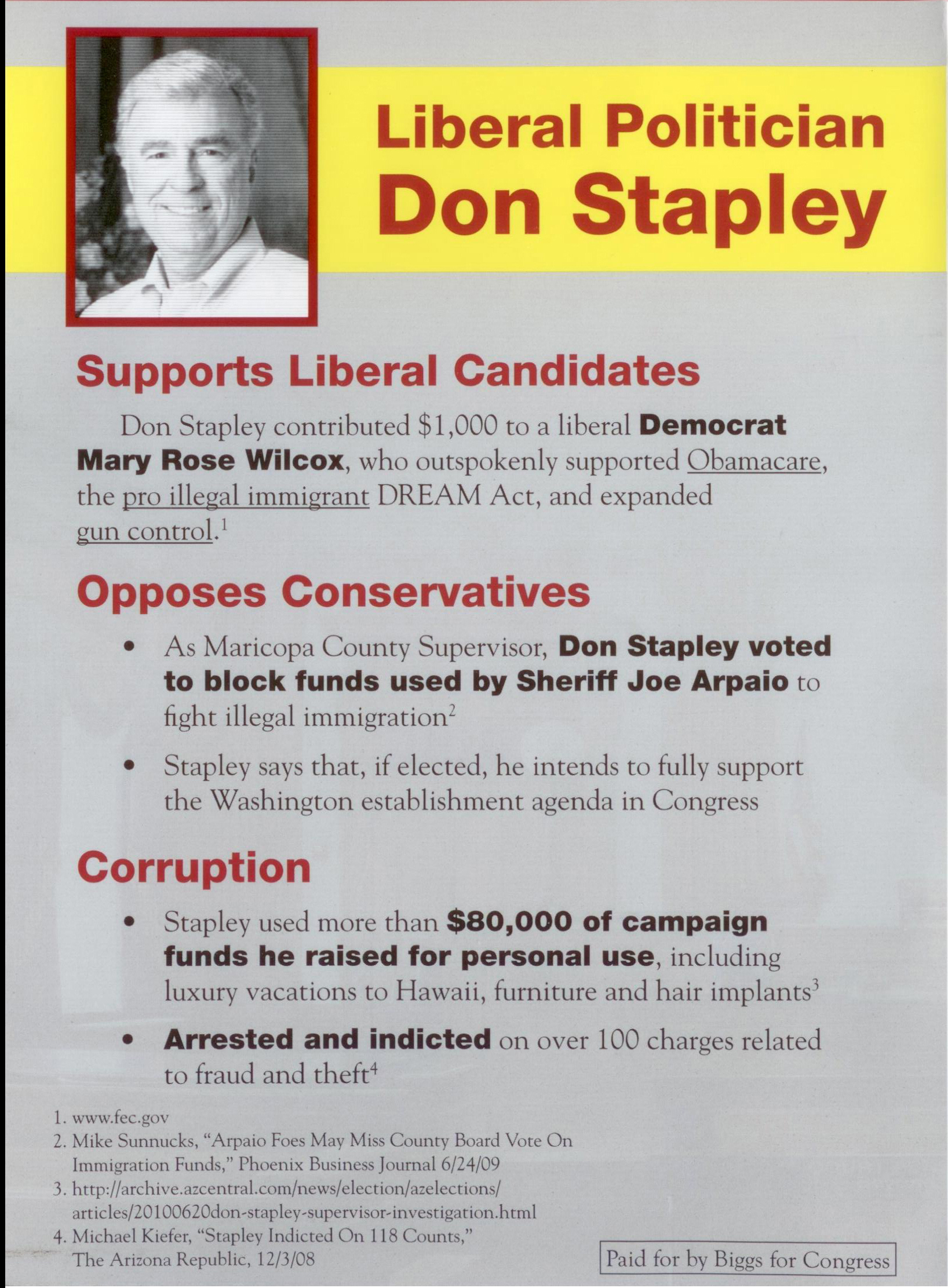 Andy Biggs Mailer