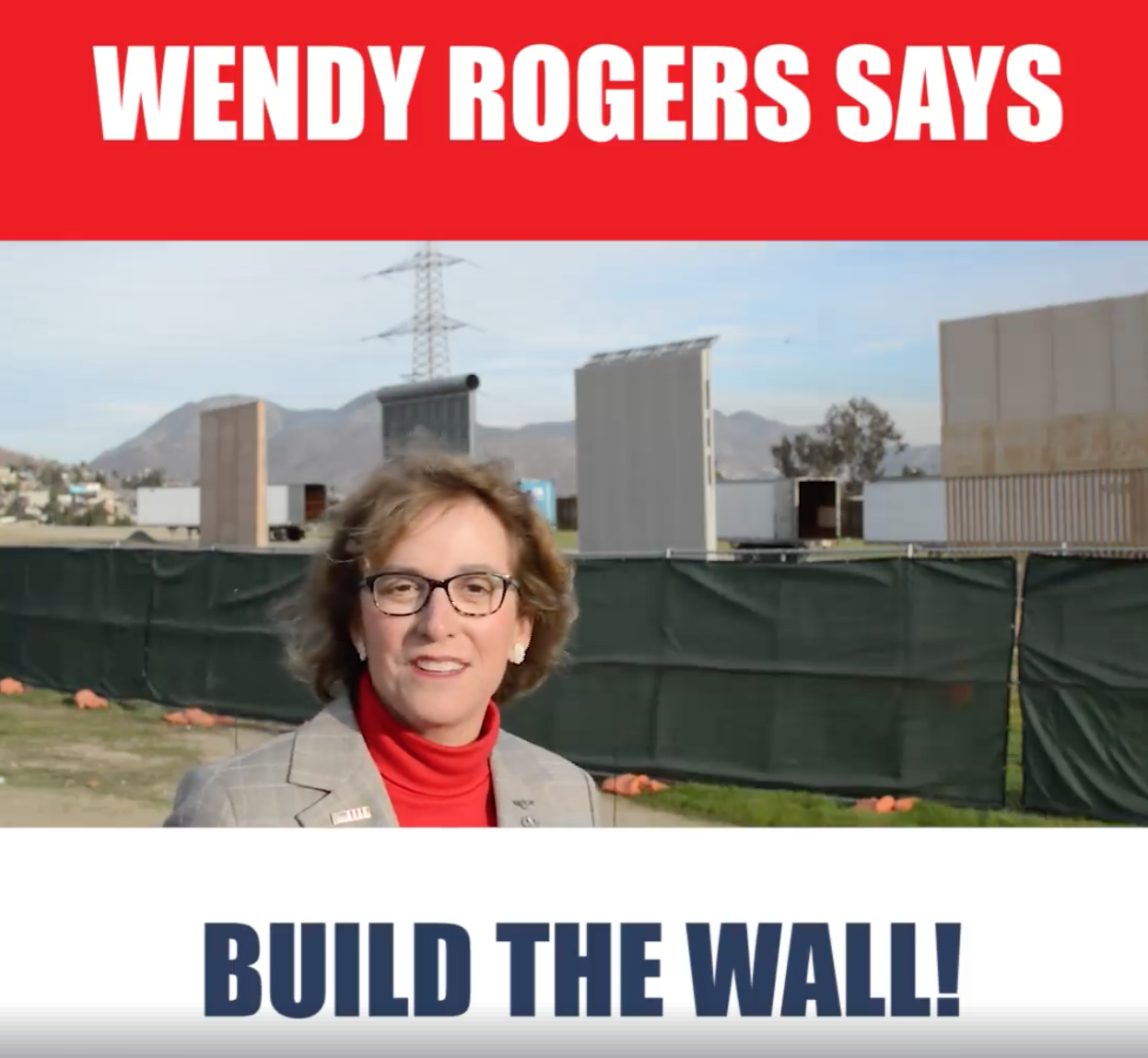 Screen Shot 2018 03 12 at 7.48.07 AM Republican Wendy Rogers Gives Speech at Wall Prototypes Ahead of President Trump Visit